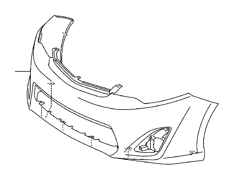 A B A on 2001 Toyota Camry Front Bumper Parts Diagram