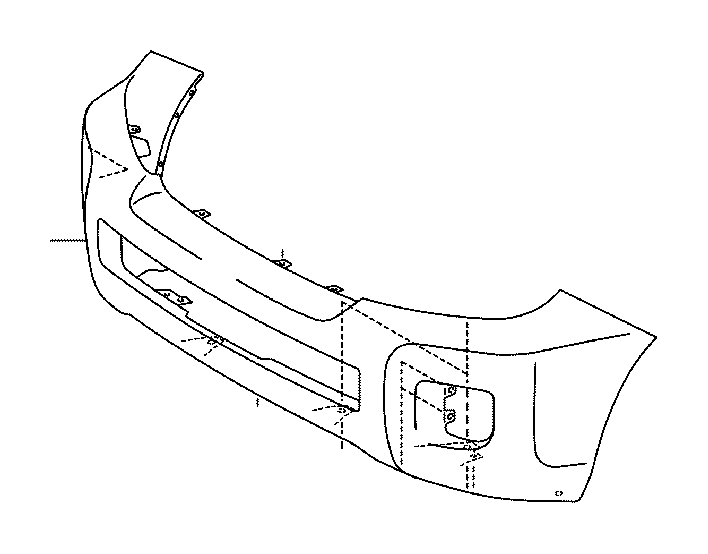 toyota land cruiser bumper cover  front   body  interior