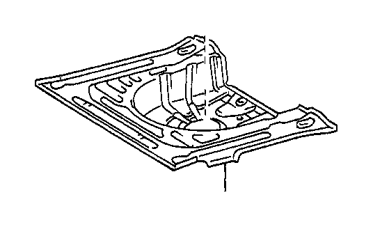 toyota corolla pan  rear floor  interior  body