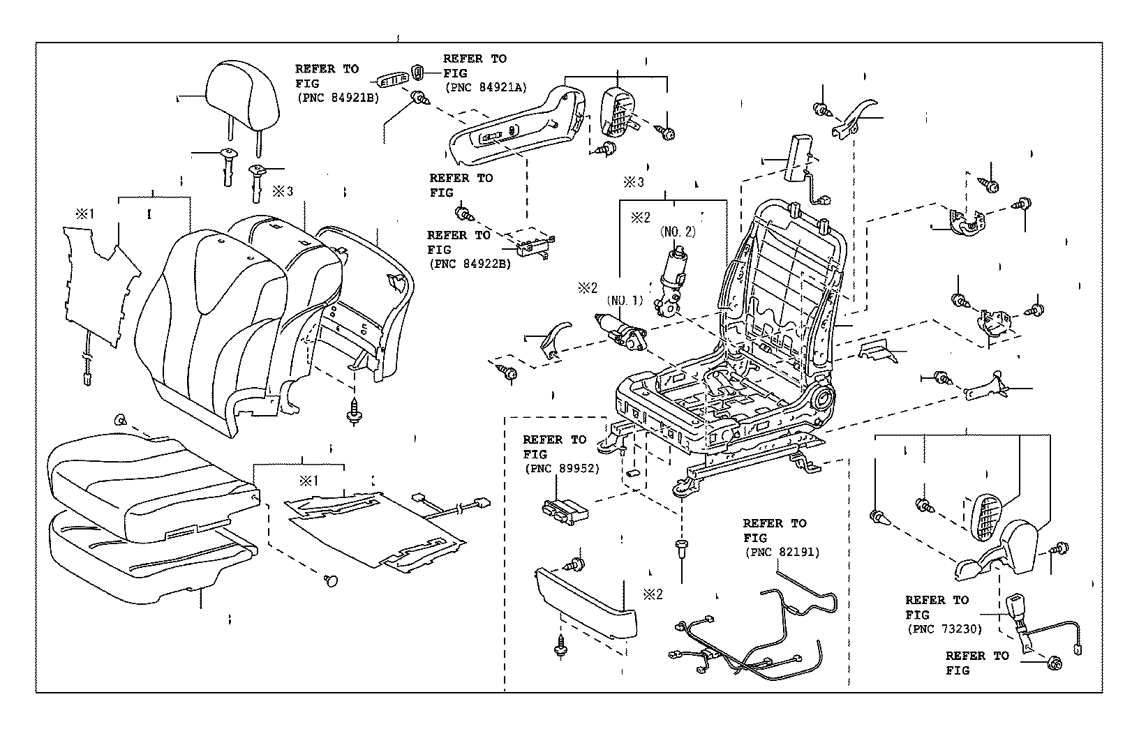 toyota camry frame assembly  front seat with adjuster