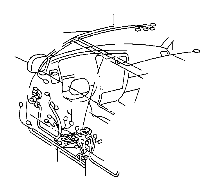 toyota 4runner wire  rear door  no  1  electrical  power  wiring