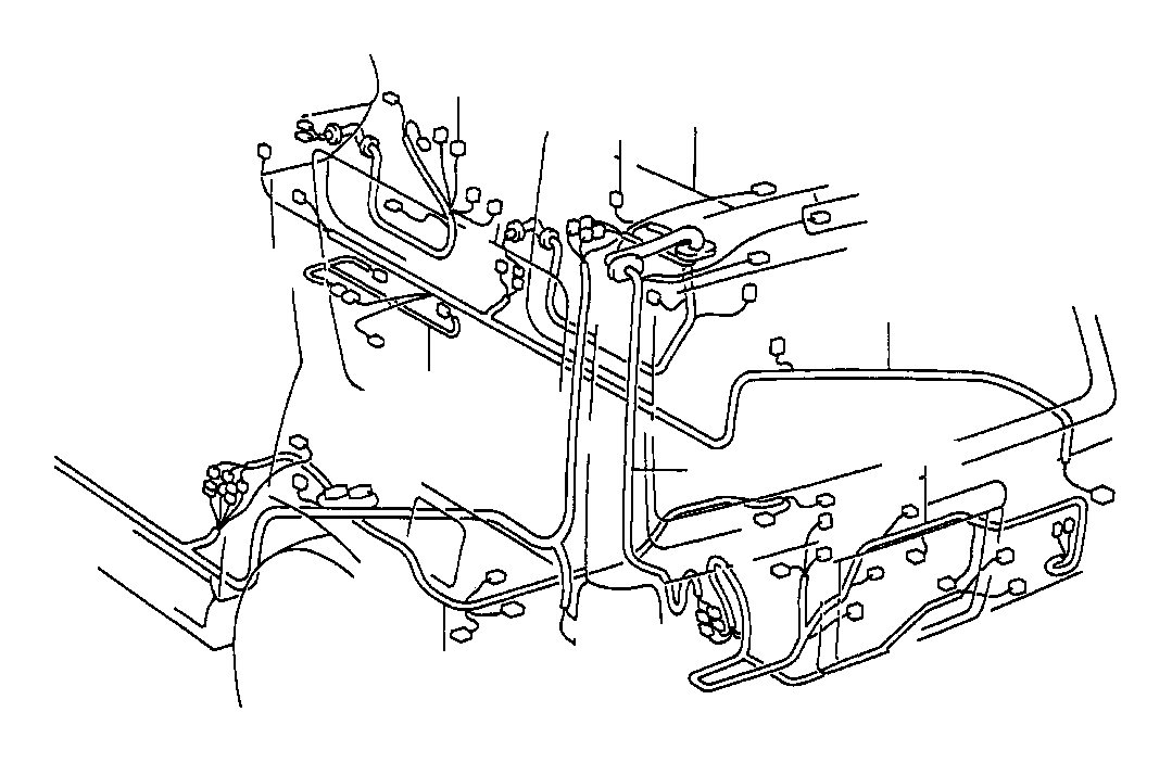 toyota 4runner wire  frame  electrical  wiring  clamp