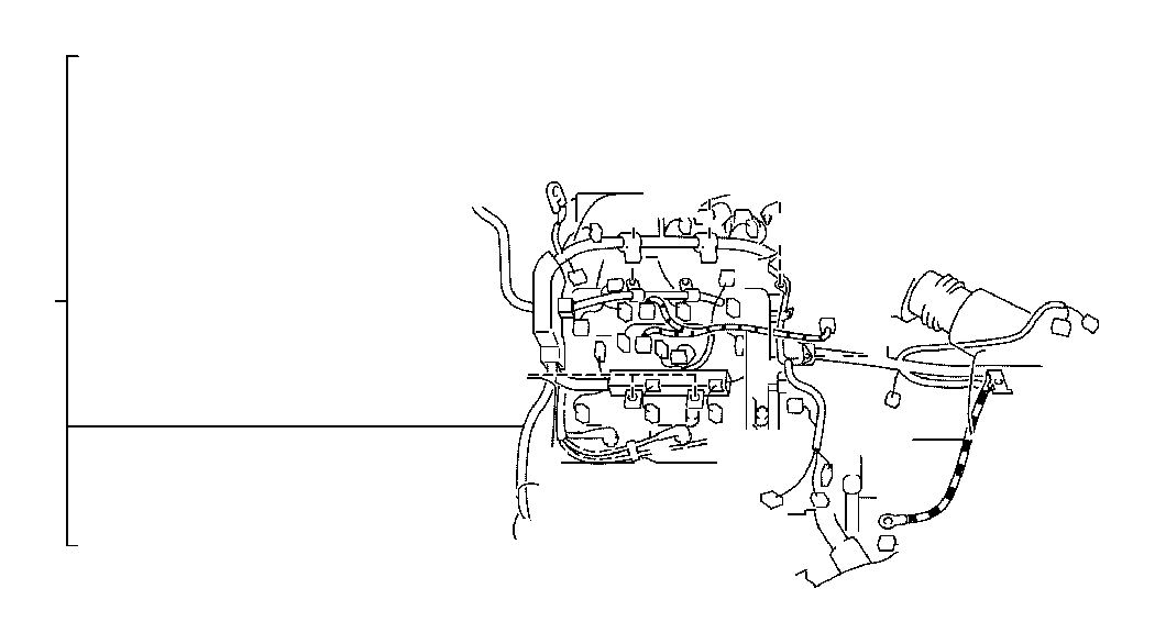 toyota camry engine wiring harness  wire  engine  electrical  clamp