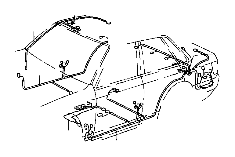 toyota camry wire  floor  electrical  wiring