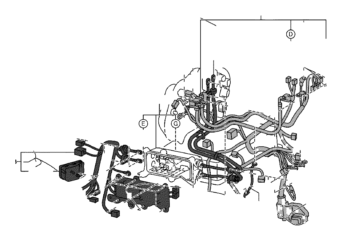 toyota rav4 wire  motor compartment  no  5  wiring