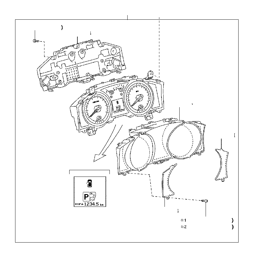 toyota land cruiser instrument cluster housing cover
