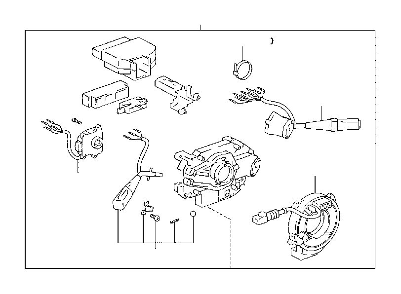 toyota land cruiser cable sub-assembly  spiral  vsc  electrical