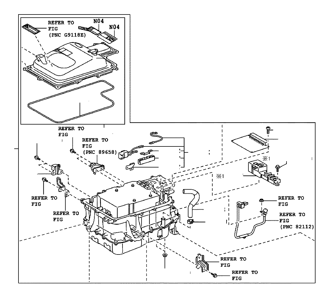 toyota highlander inverter assembly  with converter  electrical