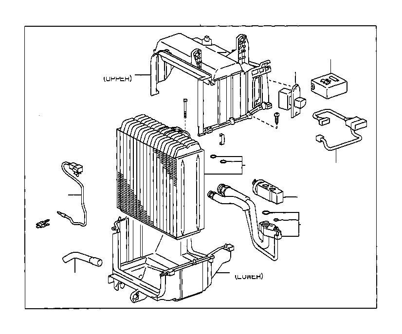toyota corolla tube assembly  air conditioner
