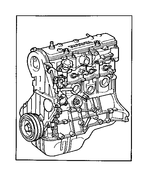 toyota celica engine assembly  partial  components