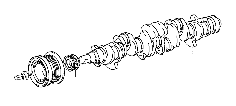toyota supra pulley  crankshaft timing  engine