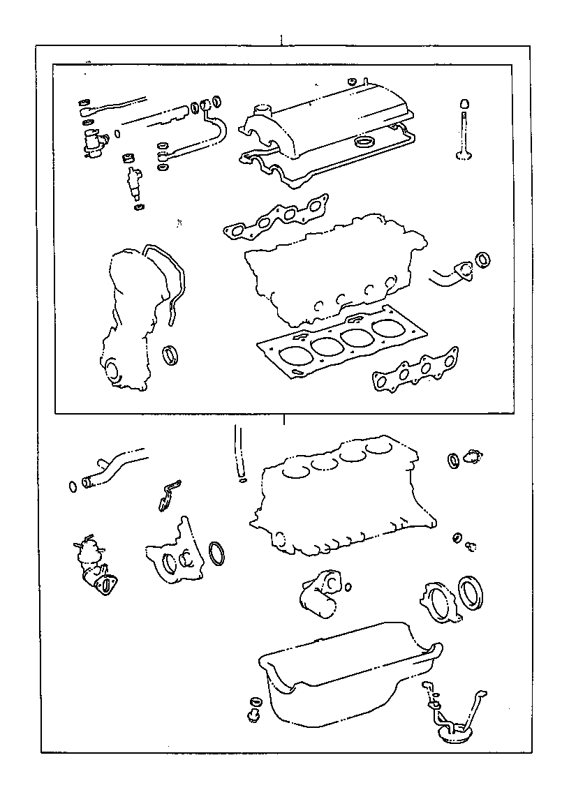 toyota tercel gasket kit  engine overhaul