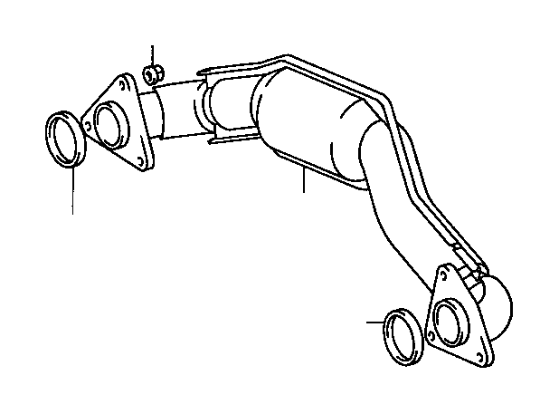 toyota t100 pipe sub-assembly  exhaust crossover  engine