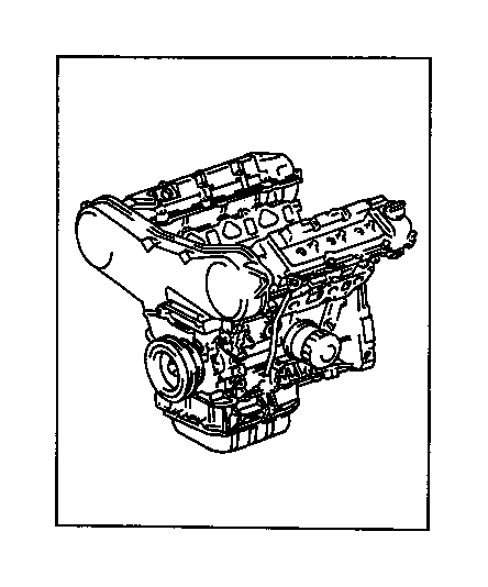 toyota avalon engine assembly  partial  components