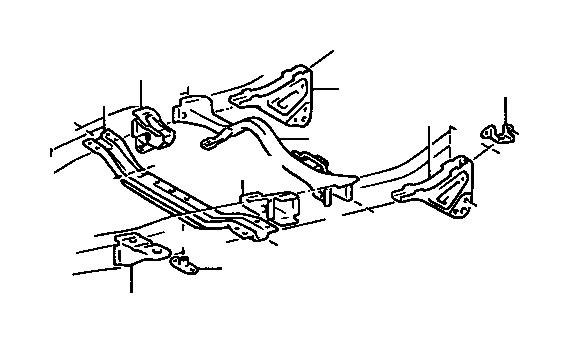 Toyota T100 Support Sub Assembly Anchor Arm Left Body