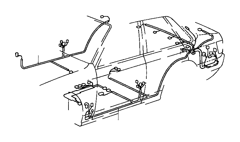 toyota camry wire  floor  electrical  usa  wiring