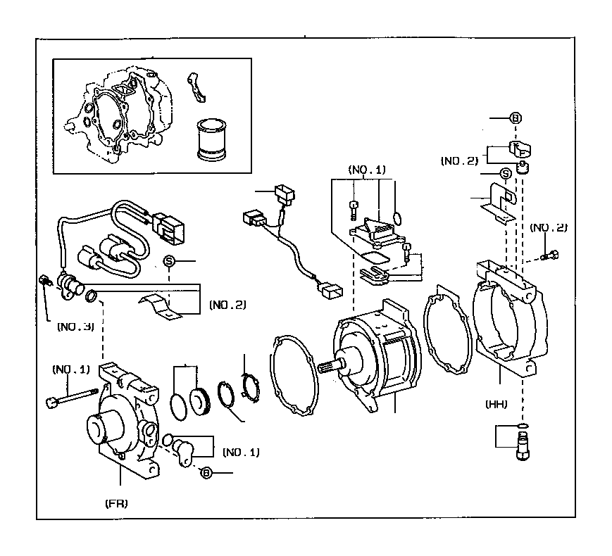 toyota tercel gasket kit  overhaul  conditioning  electrical  air